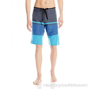Burnside Men's Ripped Dobby Stretch Boardshort Blue B00TBC5RNS