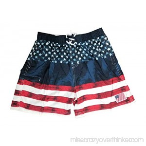 Exist Mens American Flag Swim Trunks USA American Flag Board Shorts for Swimming Flag B07PFS8MBD