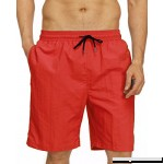 Kinlonsair Men's Sexy Swimwear Shorts Surf Swimsuit Board Shorts Swim Trunks Red B07GSQW9NG