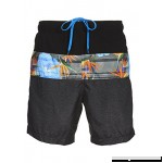 LAGUNA Mens Relaxed Fit Tropical Board Shorts Swim Trunks Grey H918368 B07F8J311F