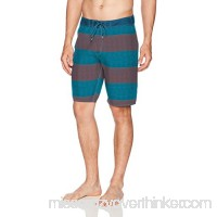 RVCA Men's Civil Stripe Trunk Rosewood B01N37IZZ4