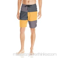 Rusty Men's 3 Peat Boardshort Black B01GGUQ6NM