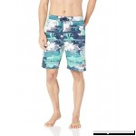 U.S. Polo Assn. Men's Swim Short with Horizontal Flowers Classic Navy B07DX8T31X