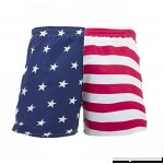 UZZI Men's American Flag Swim Trunks Red, Blue, White B07BMP2FV6