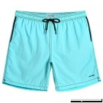 blackmogoo Mens Quick Dry Short Swim Trunks with Mesh Lining Slim Fit Boardshorts Bathing Suits Beachwear with Pockets Night Blue B07MB9R1HG