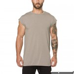 AMOFINY Men's Tops Gyms Crossfit Bodybuilding Fitness Muscle Short Sleeve T-Shirt Top Blouse Beige B07P6PL7RD