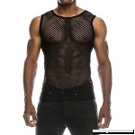 AMOFINY Men's Tops Summer Casual Muscle Pullover Tank Vest Mesh Shirt Top Blouse Black B07PCH51S5