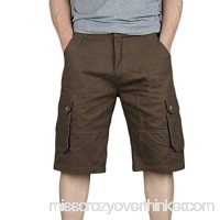 Alangbudu Men Lightweight Cargo Midi Short Relaxed Fit Multi-Pocket Outdoor Athletic Durable Big &Tall Jammer Sportwear Coffee B07PV1X894