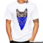 Animal Print T Shirt Men Donci Moisture Dry Sports Leisure Tops 2019 Summer Popular Style Cat Theme Pattern Solid Color Tees Blue B07NTL6QCB