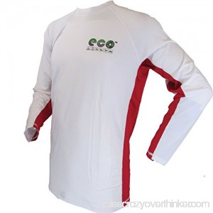 ECO Mens Rash Guard White Fluorescent Red B072VVKBP8