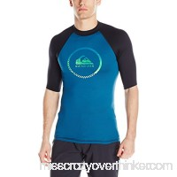 Quiksilver Men's Active Short Sleeve Rashguard Moroccan Blue Black B01N3NWAUE