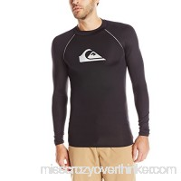 Quiksilver Men's All Time Bonded Long Sleeve Rash Guard Black B07CD35FSG