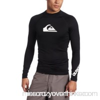 Quiksilver Men's All Time Long Sleeve Rashguard Black B0069O4JMQ