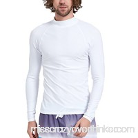 Surf Men's Rashguard UV Sun Protection Swim Shirts Basic Skins Tee Sun Shirt Surfing Diving Shirts Swimwear White B07D75X6PH