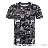 T Shirts for Men Short Sleeve God Bless Newspaper Print Shirt Muscle Fitness Tank Top Holiday Sweatshirt Mens Tops Black B07Q18NZNG