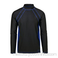 UV SKINZ UPF 50+ UPF 50 + Mens Long Sleeve Active Sun & Swim Shirt Black Navy Blue 2XL B01HBXW8AI
