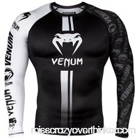 Venum Logos Rashguard Long Sleeves Black White B079FXFQGM