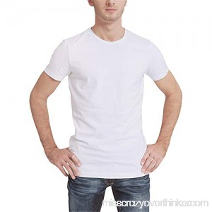 White T Shirt for Men Donci Fashion Back Print Slim Tops Round Neck Casual Summer New Short Tees White B07PY61T2M