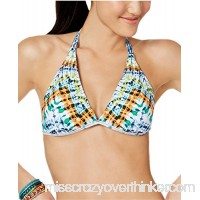 Bar III Women's Tulum Tie-Dyed Reversible Halter Bikini Top Multi B07CVNM9ZW