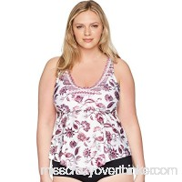 Becca by Rebecca Virtue Womens Plus Size Tahiti Tankini Multi B07CVK8925