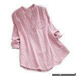 Ratoop Women Stand Collar Long Sleeve 3 4 Sleeve Loose Soft Tunic Tops T Shirt Blouse Pink B07NVRGSPS