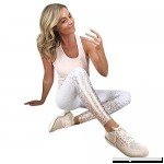 UOKNICE Yoga Pants for Womens Running Sport Gym Stretch Workout Fashion Control Fitness Athletic Legging Trousers White B07MCH8QFH