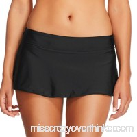 Acasia Womens Swim Skirted Bikini Bottom Waistband Swim Skirt Swimsuit Black as B07F2HWX1T