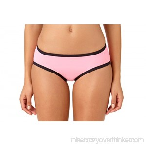Anne Cole Studio Women's Beach Bound Solid Boy Brief Hipster Swim Bottom Pink B07CJ9V5GK