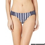 Anne Cole Women's Tab Side Bikini Swim Bottom Don't Smock Me Navy White Stripe B07K4BFKG8