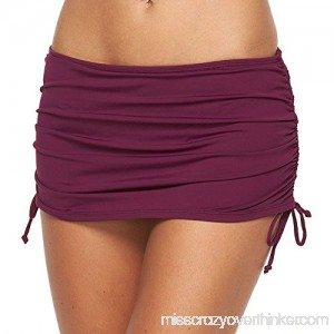 Apt 9 Women's Side Tie Swim Skirtini Bottoms for Women Mulberry B072QXMNBM