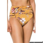 BCBG Max Azria Women's Desert Flower High Waist Bikini Bottom Gold B07P1447SQ