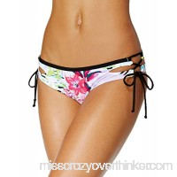 Bar III Women's Lace-Up Hipster Bikini Bottoms Tropical Multi B07BRDGG5S