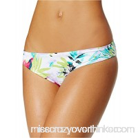 Bar III Women's Tropical Cheeky Hipster Bikini Bottom White Multi B07D348PKQ