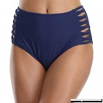 Century Star Women's Strappy Bikini Bottom Full Coverage Tie Side Swim Briefs High Waist Swimsuit Bottoms Blue B07LFZF6HF