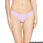 PilyQ Women's Lilac Basic Ruched Bikini Bottom Full Swimsuit Large B079NYNMHC