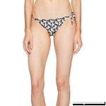 Stella McCartney Womens Iconic Prints Tie Side Bikini Bottom Black White Horses Print B01M3OHSYQ