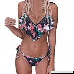AMOFINY Women's Fashion Swimwear Bandage Bikini Set Push-Up Brazilian Print Beachwear Swimsuit Multicolor B07NXRHNJX