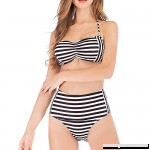 GIRL AND SEA Women Striped Halter Bikini Set Backless Two Piece Bathing Suit Swimsuit Stripe B07MWW2BBJ