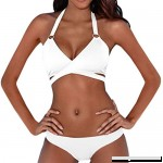 Jushye 2 Bikini Sets,Women Sexy Push-up Padded Bandage Swimwear Swimsuit White B07DN7YFB8