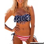 Lashaper Women Patriotic American Flag Stars Stripes Fringe Tassel Bikini Set Swimsuit Us Flag B075SV42B3