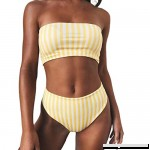 Pervobs Swimsuit Women Swimsuit Striped Bikini Set Strapless Push-up Padded Swimwear Bathing Beachwear Yellow B07D9H3CWN