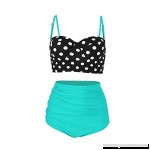 Women Vintage Bikinis Bathing Suits Retro Halter Underwired Sexy Swimwear Green B07LBWXLP5